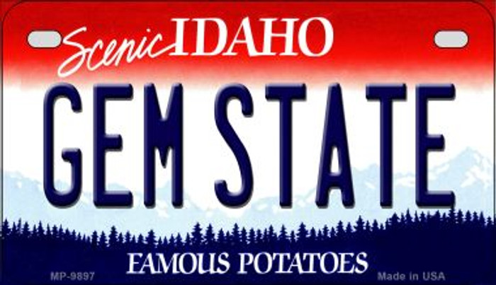 Gem State Idaho Novelty Metal Motorcycle Plate MP-9897