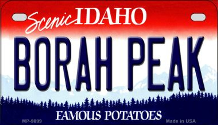 Borah Peak Idaho Novelty Metal Motorcycle Plate MP-9899