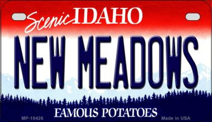 New Meadows Idaho Novelty Metal Motorcycle Plate MP-10426