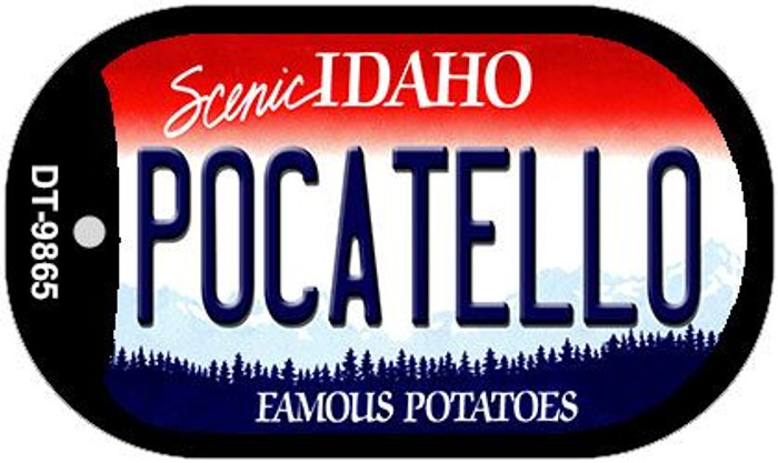 Pocatello Idaho Novelty Metal Dog Tag Necklace DT-9865