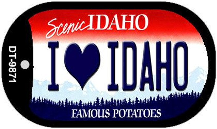I Love Idaho Idaho Novelty Metal Dog Tag Necklace DT-9871