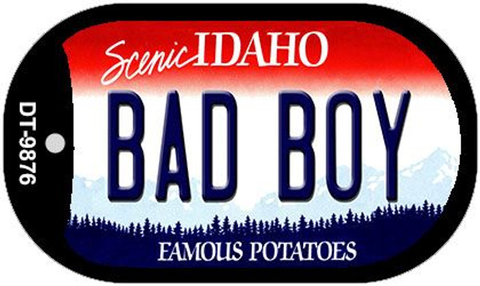 Bad Boy Idaho Novelty Metal Dog Tag Necklace DT-9876