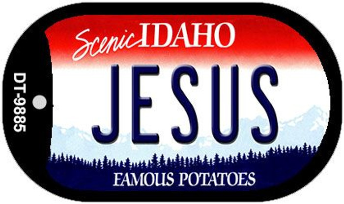 Jesus Idaho Novelty Metal Dog Tag Necklace DT-9885
