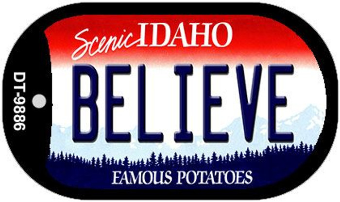 Believe Idaho Novelty Metal Dog Tag Necklace DT-9886