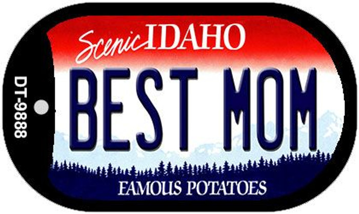 Best Mom Idaho Novelty Metal Dog Tag Necklace DT-9888
