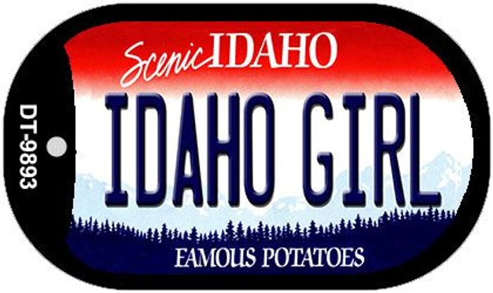 Idaho Girl Idaho Novelty Metal Dog Tag Necklace DT-9893