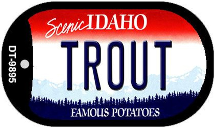 Trout Idaho Novelty Metal Dog Tag Necklace DT-9895