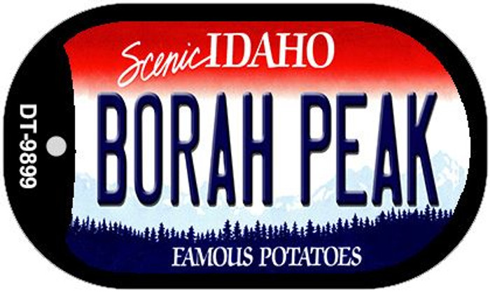 Borah Peak Idaho Novelty Metal Dog Tag Necklace DT-9899