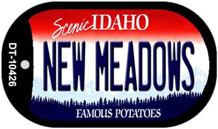 New Meadows Idaho Novelty Metal Dog Tag Necklace DT-10426