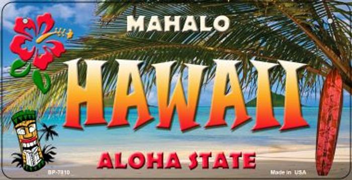 Hawaii Tiki Novelty Metal Bicycle Plate BP-7810