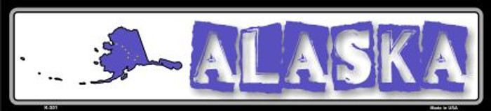 Alaska State Outline Novelty Metal Vanity Small Street Sign