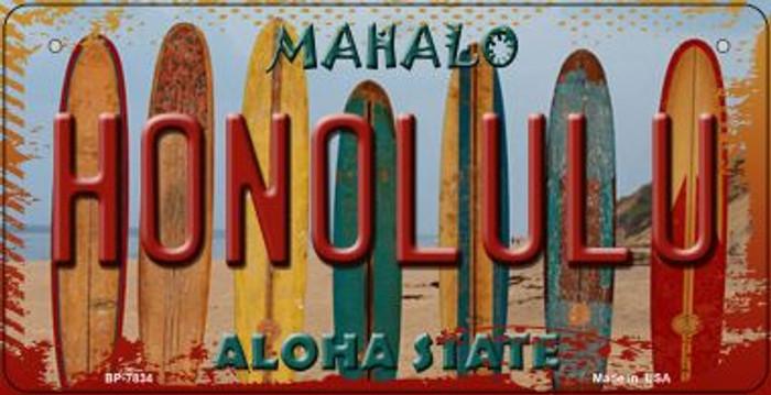Honolulu Surfboards Novelty Metal Bicycle Plate BP-7834