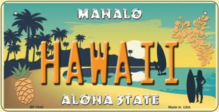 Hawaii Pineapple Novelty Metal Bicycle Plate BP-7840
