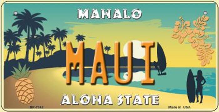 Maui Pineapple Novelty Metal Bicycle Plate BP-7842