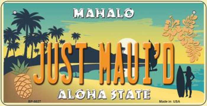 Just Maui'd Pineapple Novelty Metal Bicycle Plate BP-8827