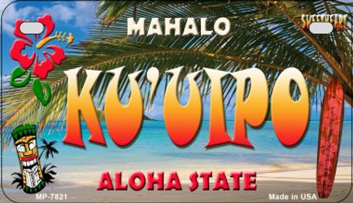 Ku'uipo Tiki Novelty Metal Motorcycle Plate MP-7821