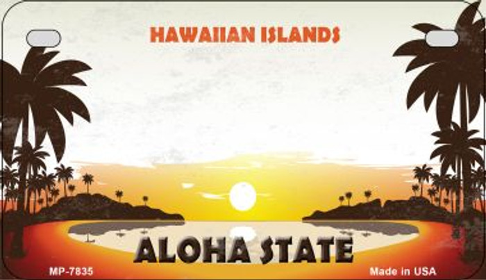 Blank Hawaiian Islands Novelty Metal Motorcycle Plate MP-7835
