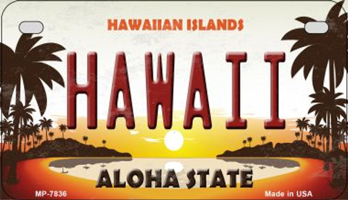 Hawaiian Islands Novelty Metal Motorcycle Plate MP-7836