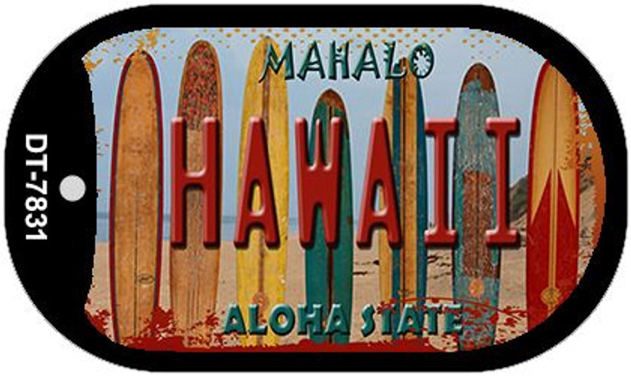 Hawaii Surboards Novelty Metal Dog Tag Necklace DT-7831