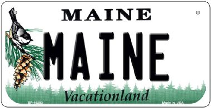 Maine Novelty Metal Bicycle Plate BP-10383