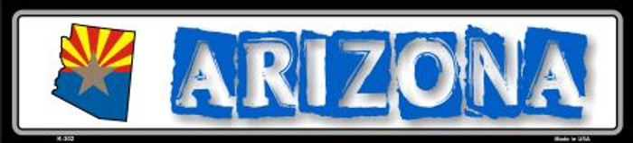 Arizona State Outline Novelty Metal Vanity Small Street Sign