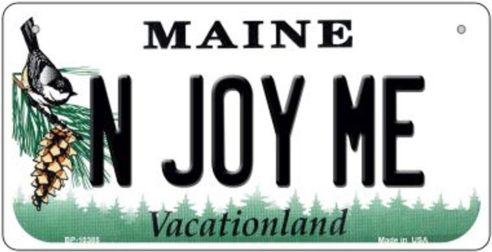 N Joy ME Maine Novelty Metal Bicycle Plate BP-10385