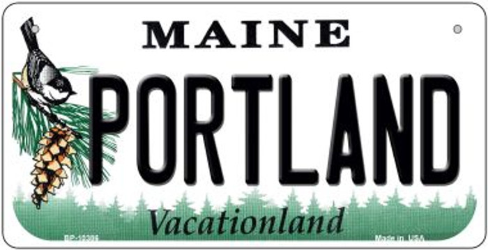 Portland Maine Novelty Metal Bicycle Plate BP-10386