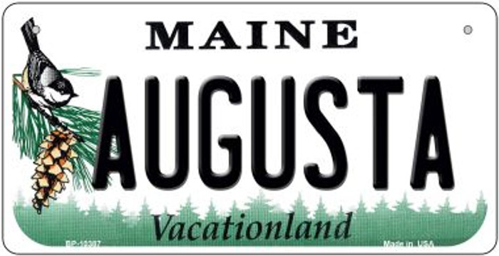 Augusta Maine Novelty Metal Bicycle Plate BP-10387