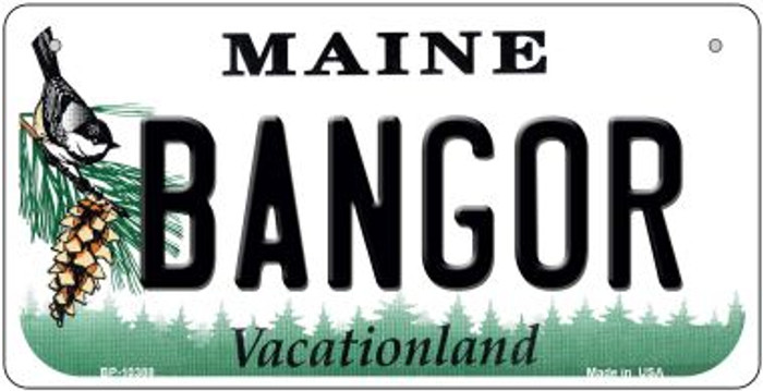 Bangor Maine Novelty Metal Bicycle Plate BP-10388