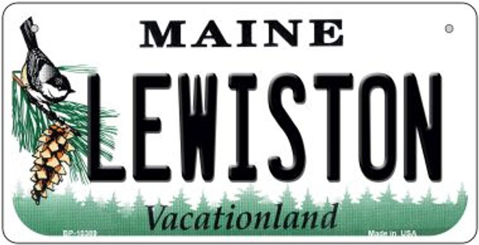 Lewiston Maine Novelty Metal Bicycle Plate BP-10389