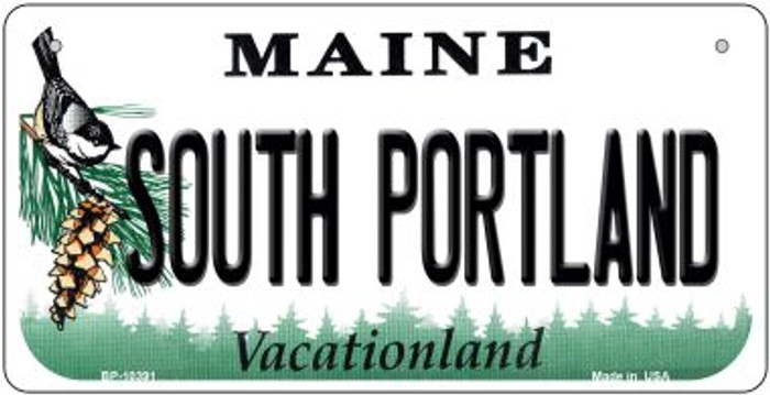 South Portland Maine Novelty Metal Bicycle Plate BP-10391