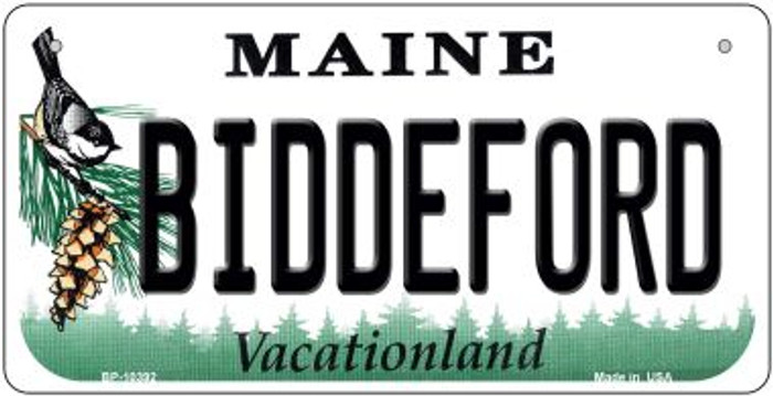 Biddeford Maine Novelty Metal Bicycle Plate BP-10392