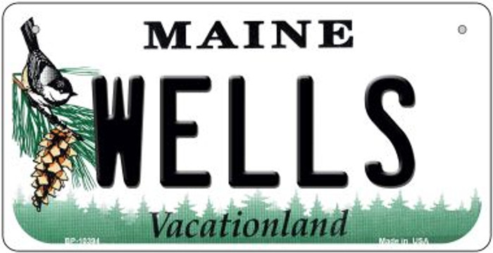 Wells Maine Novelty Metal Bicycle Plate BP-10394