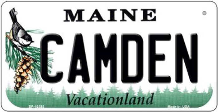 Camden Maine Novelty Metal Bicycle Plate BP-10395