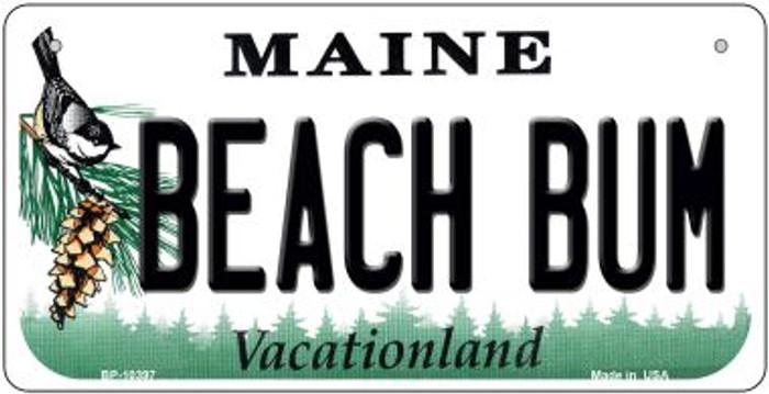 Beach Bum Maine Novelty Metal Bicycle Plate BP-10397