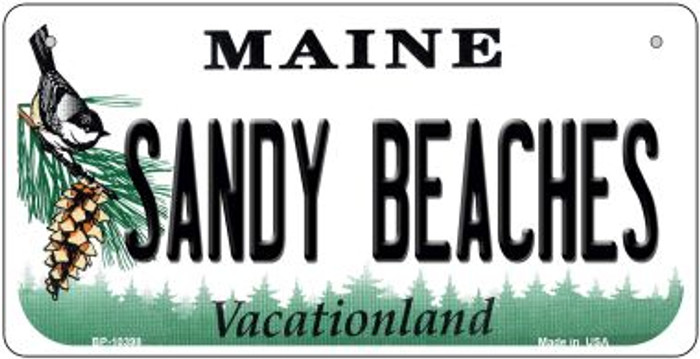 Sandy Beaches Maine Novelty Metal Bicycle Plate BP-10398