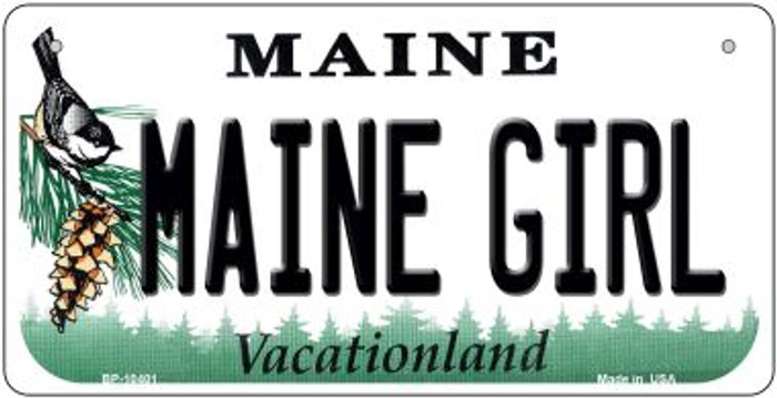 Maine Girl Novelty Metal Bicycle Plate BP-10401
