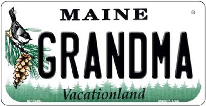 Grandma Maine Novelty Metal Bicycle Plate BP-10403