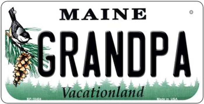 Grandpa Maine Novelty Metal Bicycle Plate BP-10404