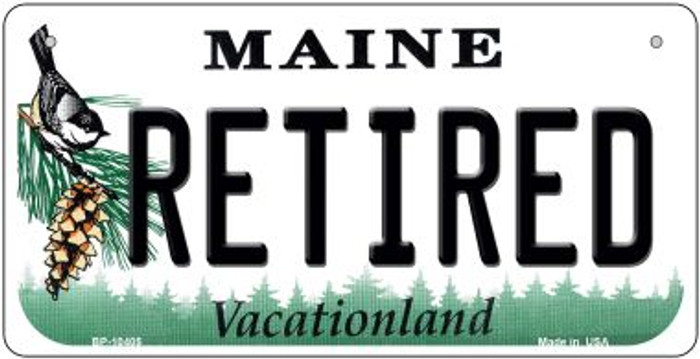Retired Maine Novelty Metal Bicycle Plate BP-10405