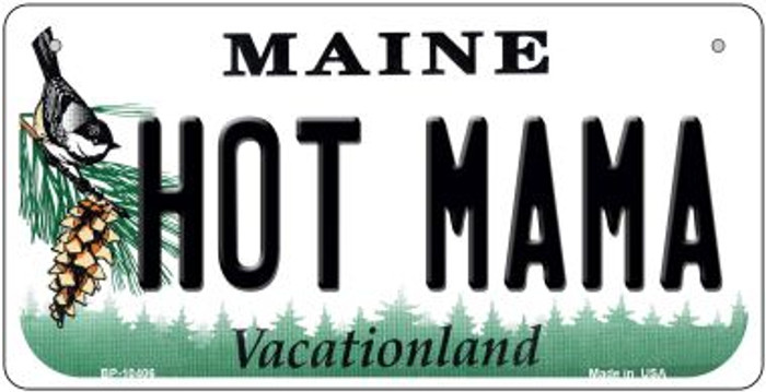 Hot Mama Maine Novelty Metal Bicycle Plate BP-10406