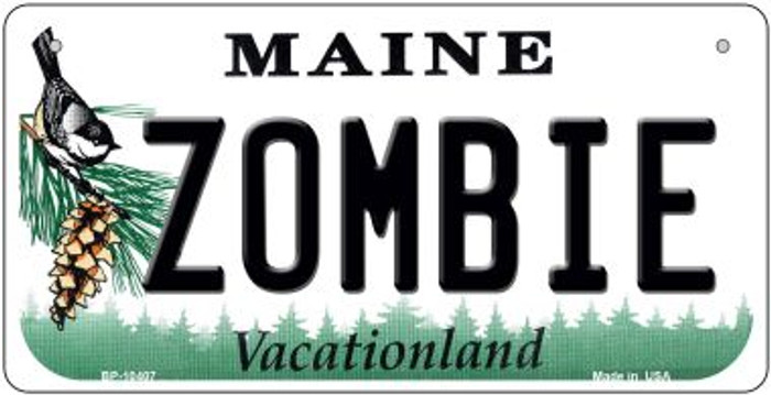 Zombie Maine Novelty Metal Bicycle Plate BP-10407