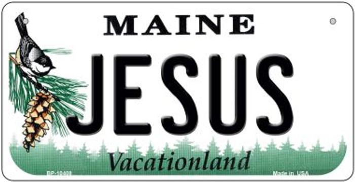 Jesus Maine Novelty Metal Bicycle Plate BP-10408