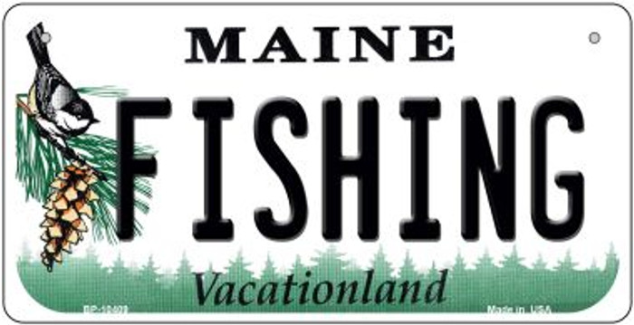 Fishing Maine Novelty Metal Bicycle Plate BP-10409