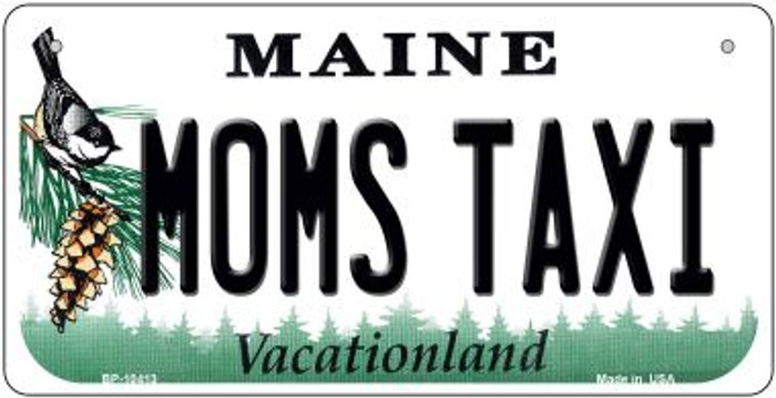 Moms Taxi Maine Novelty Metal Bicycle Plate BP-10413