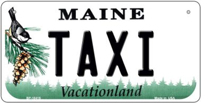 Taxi Maine Novelty Metal Bicycle Plate BP-10415