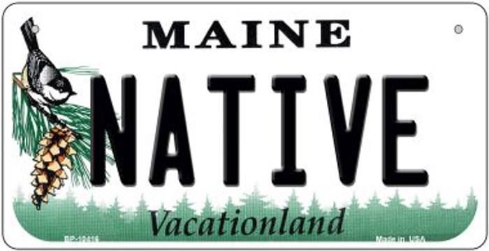Native Maine Novelty Metal Bicycle Plate BP-10416