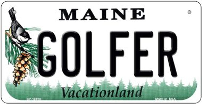 Golfer Maine Novelty Metal Bicycle Plate BP-10418