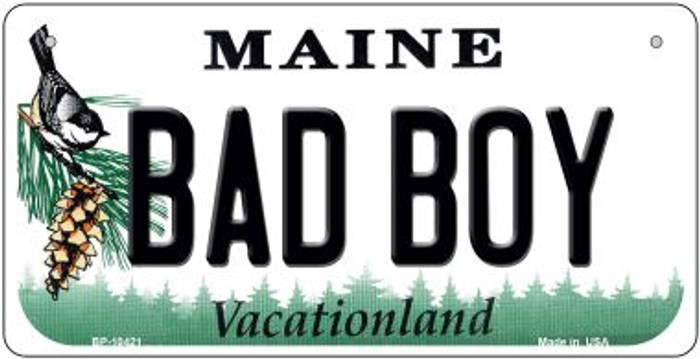 Bad Boy Maine Novelty Metal Bicycle Plate BP-10421