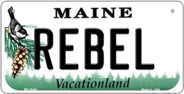 Rebel Maine Novelty Metal Bicycle Plate BP-10424